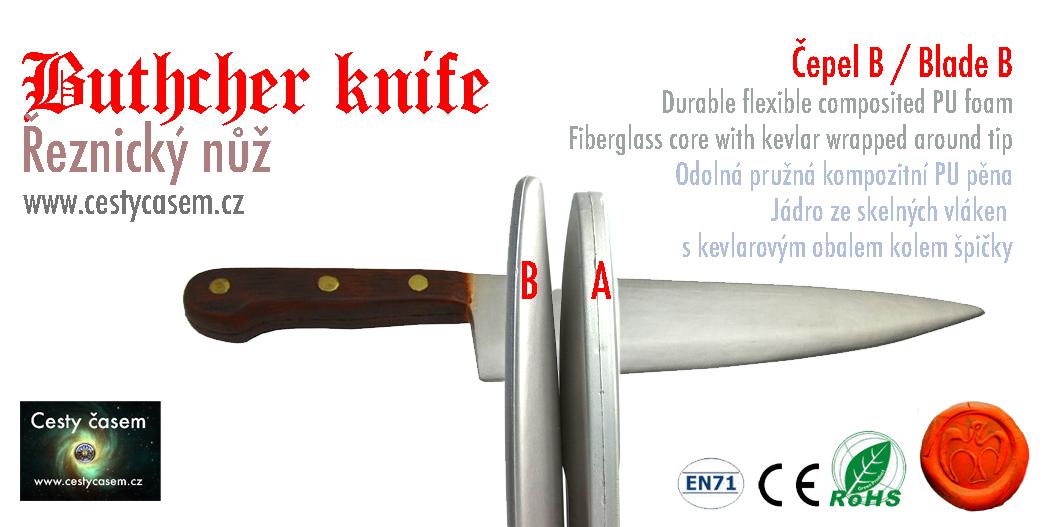 řeznický nůž, nůž pro vraha, assassin