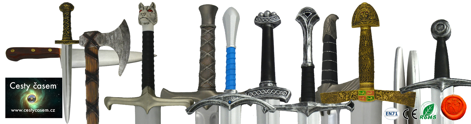 ESHOP larpové měkčené zbraně