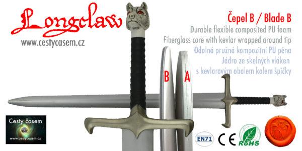 Longclaw - měkčený meč Johna Snow pro larp