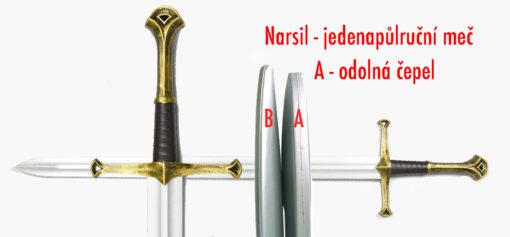 Narsil - měkčený jedenapůl ruční meč pro LARP