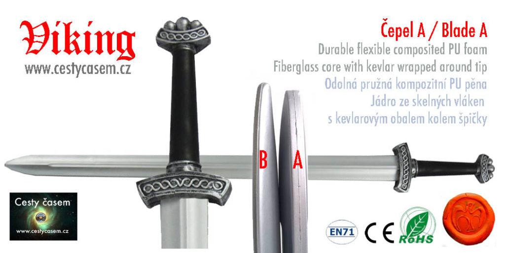 viking měkčený meč pro larp