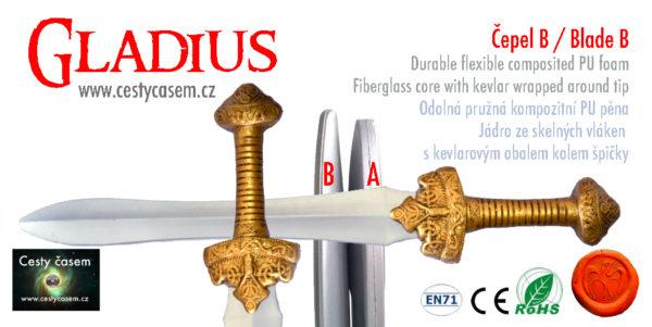 gladius měkčený meč pro larp
