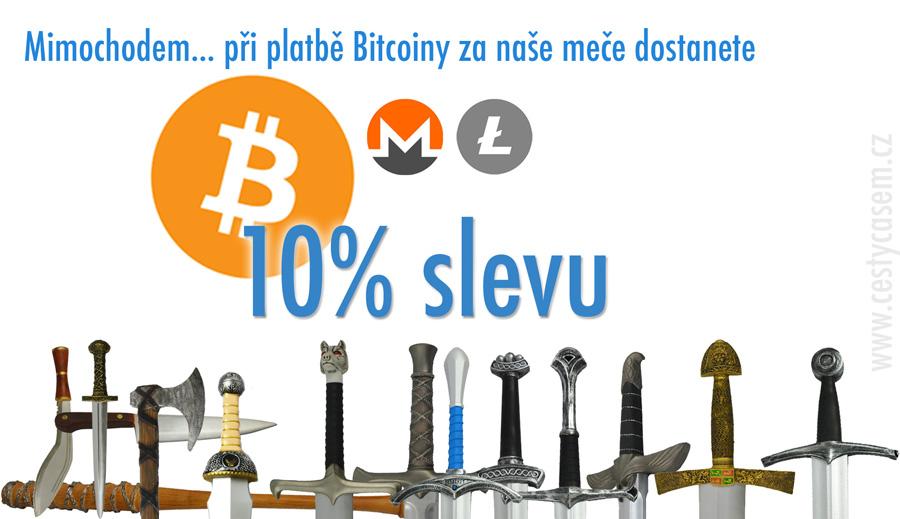 sleva za platbu bitcoiny, discount for bitcoin payment